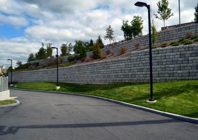 Cobblestone Retaining Wall