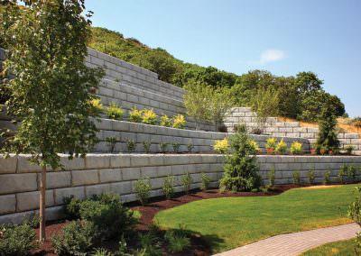 Limestone Retaining Wall Residential