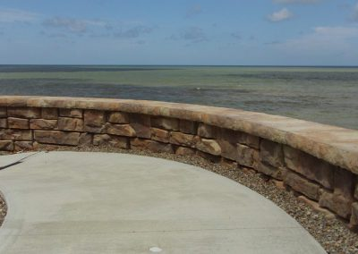 Top of the Retaining Wall