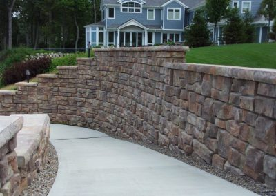 Lakefront Home Retaining Wall